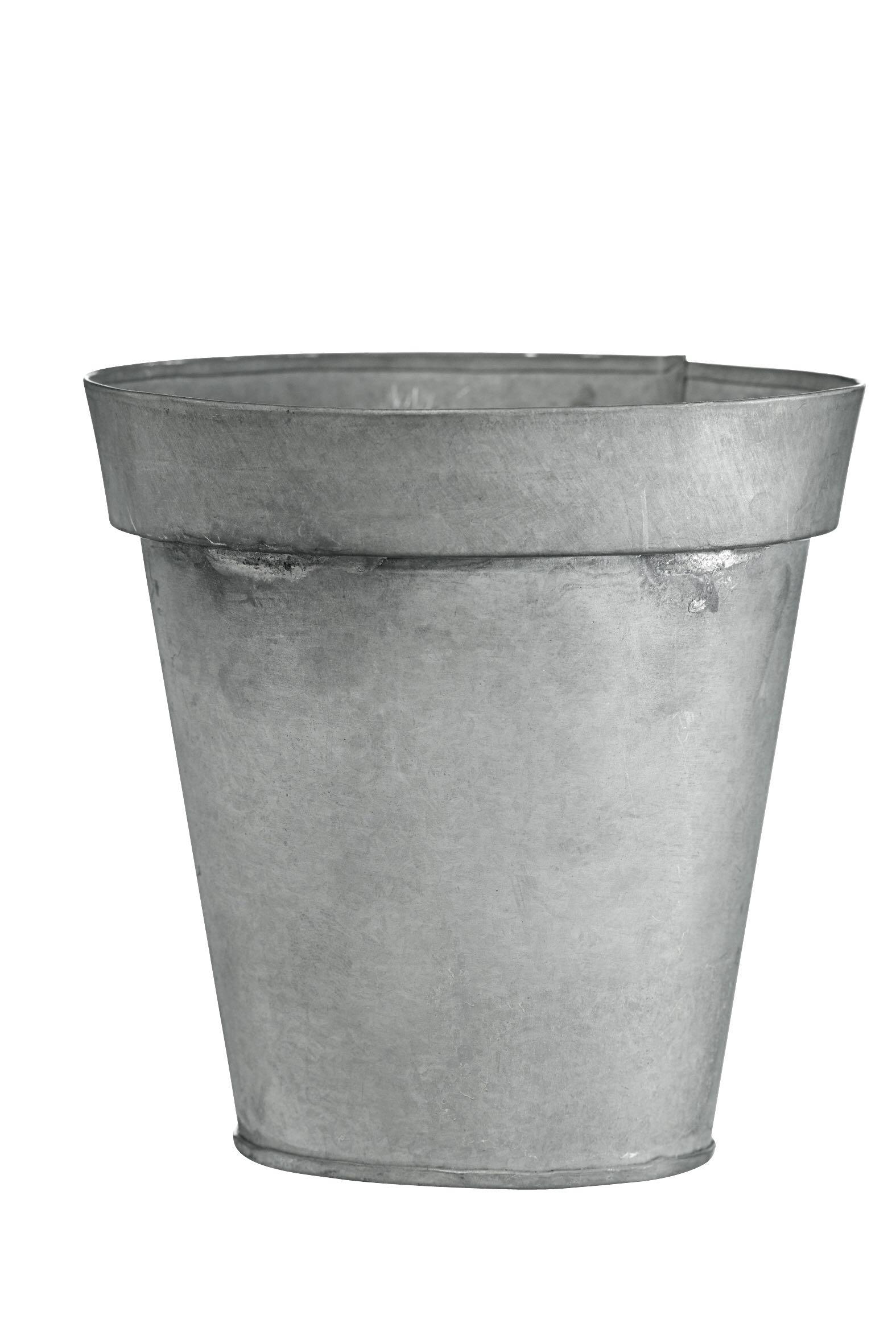 Blumentopf, Metall