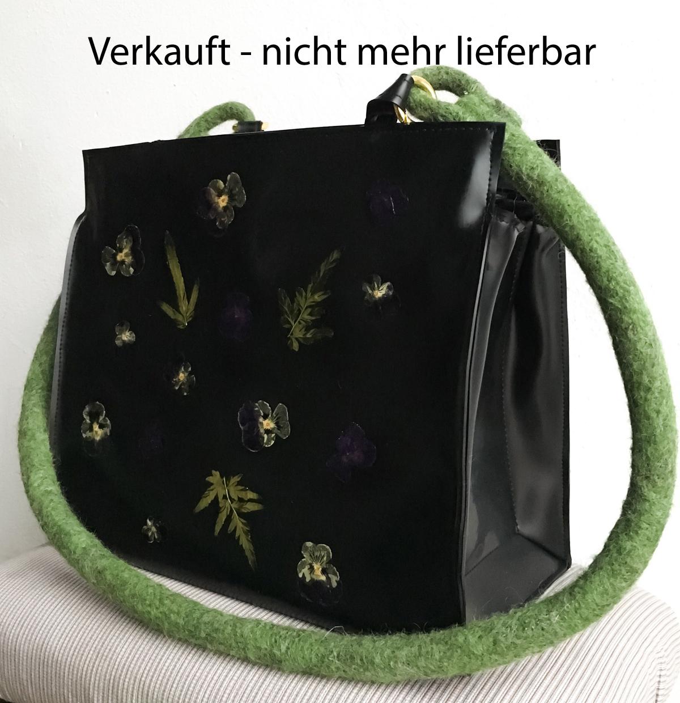 "Handtasche aus Latex, ""Flowers 1/7""...VERKAUFT"