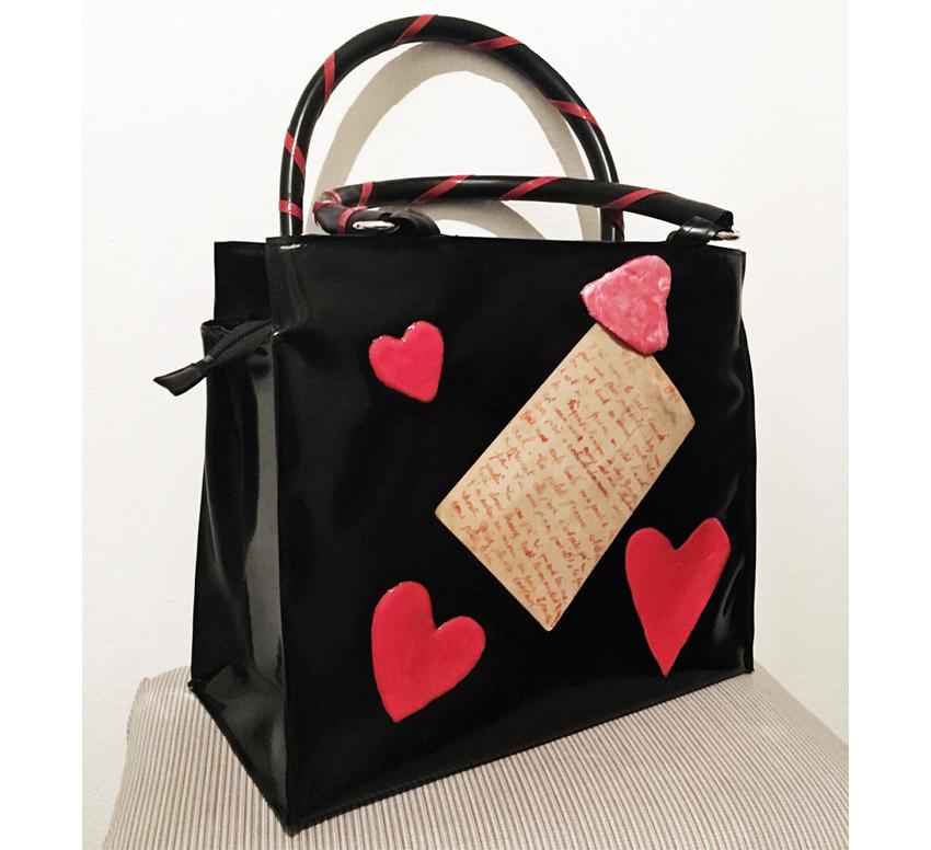 "Handtasche aus Latex, ""LoveLetters 1/20"""