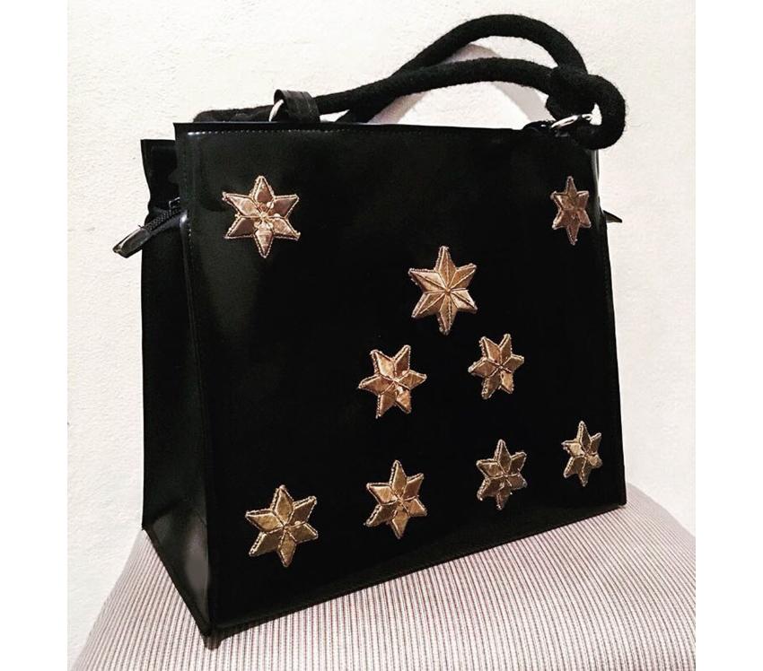 """Handtasche aus Latex, """"Sternenklar 1/15"""""""