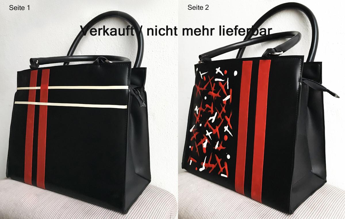"""Handtasche aus Latex, """"Classic 3""""    *VERKAUFT*"""