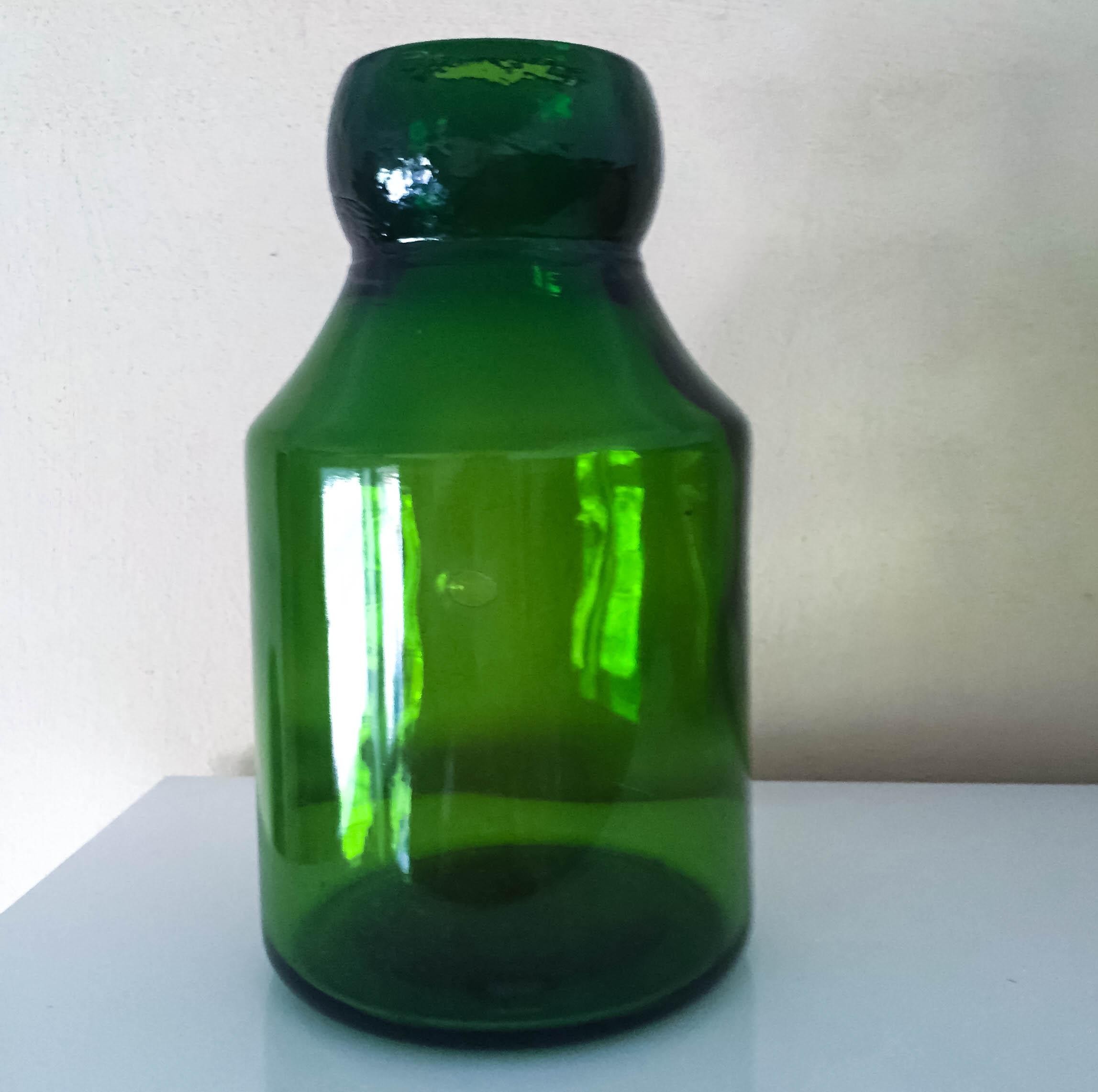 Vintage Vase aus Glas