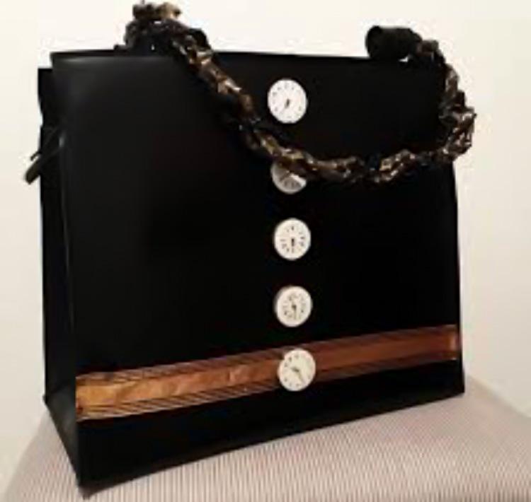 "Handtasche aus Latex, ""ClockWork 1/15"""