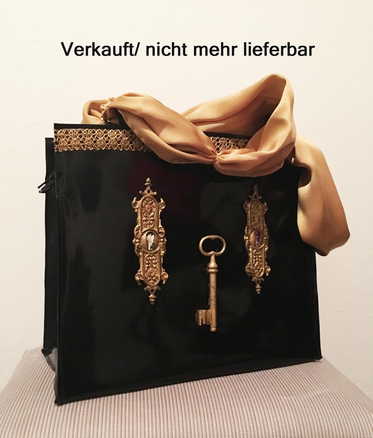 """Handtasche aus Latex, """"Blick durchs Schlüsselloch 1/15"""" *Verkauft*T!"""