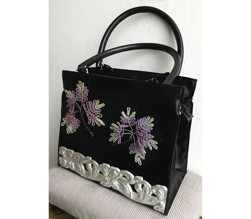 "Handtasche aus Latex, ""Fleurs 1/20"""