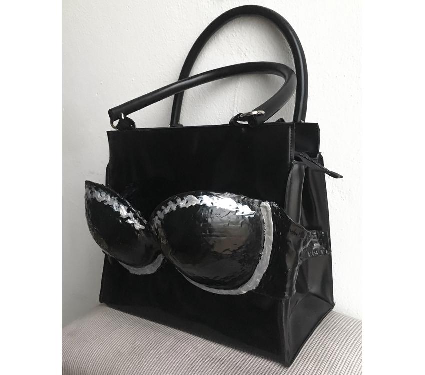"""Handtasche aus Latex, """"Augenhöhe"""""""